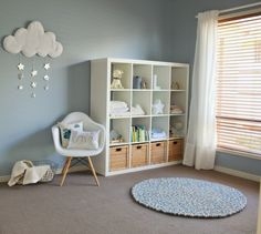Lincoln's Calm and Serene Nursery Project Nursery - baby blue nursery 7 Baby Blue Nursery, Clouds Nursery, White Nursery, Baby Bedroom, Baby Boy Rooms, Baby Room Decor, Baby Boy Nurseries, Nursery Room, Kids Bedroom