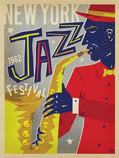 New York Jazz Festival - Our New York Jazz Festival poster pays homage to the masters of Jazz who played long into the night in smoky Harlem clubs. Printed on gallery-grade paper, this smooth and mellow print is sure to jazz up any home or office wall for decades to come.