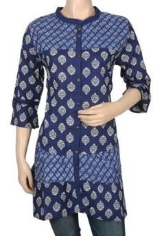 Block Print Kurta http://www.rajrang.com/apparels/ladies-apparels/designer-kurtis-tunics.html