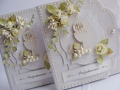 First Communion Cards, First Communion Invitations, First Holy Communion, Spellbinders Cards, Stampin Up Cards, Christmas Tag, Keepsake Boxes, Flower Cards, Cute Cards