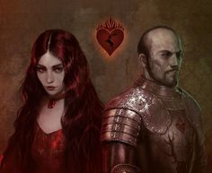 Stannis and Melisandre by Berghots