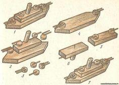 Игрушки и поделки своими руками - Игрушка КОРАБЛЬ, изготовление