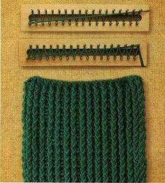 Base del Tejido  Al iniciar el tejido con el telar se trabajan 2 vueltas de base como a continuación indicamos, para darle mejor consistenci...