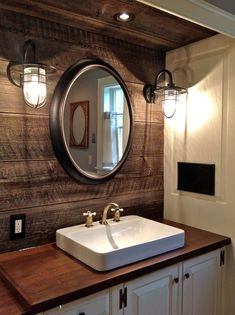Rustic Bathroom Ideas on a Budget Rustic Farmhouse Bathroom Decor Ideas Do you think he or she is gonna like it? Farm Style Bathrooms, Nautical Bathrooms, Farmhouse Bathrooms, Pirate Bathroom Decor, Farmhouse Vanity, Rustic Bathroom Vanities, Bathroom Renos, Master Bathroom, Bathroom Cabinets