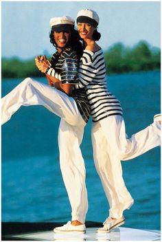 Christy Turlington Naomi Campbell - Ralph-Lauren- Vogue - Photo Arthur Elgort 1992