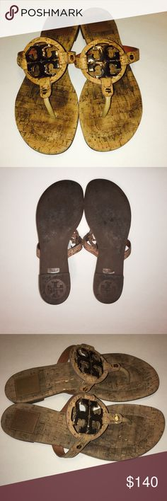 Tory Birch Millers SZ 8 Cork material in great condition tons of life left. Please ask questions if any additional information is needed. Tory Burch Shoes Sandals