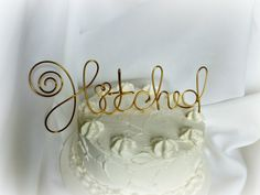 Hitched Rustic Cake Topper 4 Ready To Ship by HomesAndWeddings, $37.00