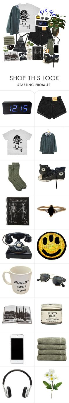 """""""I can't keep checking my phone"""" by purpleghost ❤ liked on Polyvore featuring Portolano, Converse, LUMO, Chicnova Fashion, Assouline Publishing, Burt's Bees, Linum Home Textiles and Master & Dynamic"""