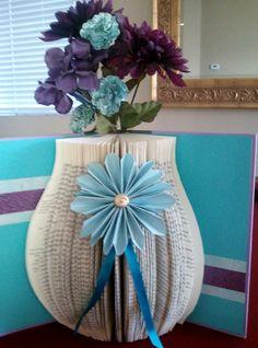Altered Book Flower Vase.