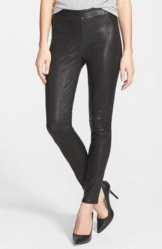 J Brand '8007' Genuine Leather Leggings