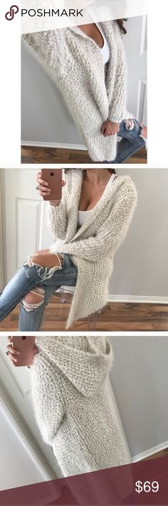 New Super soft cardigan New incredibly soft cardigan purchased from @mrsalliexo who has amazing quality items. I love this, it just does not fit my frame well ☹️  My loss, your gain. Photos credit to @mrsalliexo as well. Sweaters Cardigans