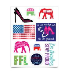 Use discount code PoliticalPearls for 10% off ----- Premium Sticker Sheet