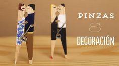 Pinzas para la ropa con estilo ¡Decóralas!