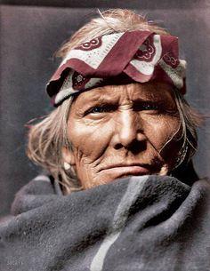 インディアン(ネイティブ・アメリカン)の貴重なカラー化写真 (14)