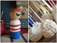 "Nautical ""rope"" cake pops"