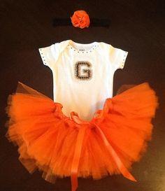 1ed88cbb04347 San Francisco Giants inspired Baby Tutu Outfit on Etsy