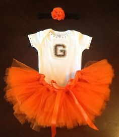 San Francisco Giants inspired Baby Tutu Outfit on Etsy, $35.00