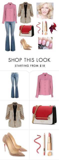 """Day"" by linamakovskaya on Polyvore featuring мода, Frame, Dondup, River Island, Christian Louboutin и SK-II"