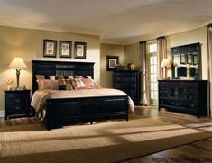 black bedroom furniture - Bedroom Decorating Ideas With Black Furniture