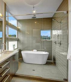 Great windows in shower / bathroom
