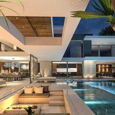 Enhance Your Senses With Luxury Home Decor Dream House Interior, Luxury Homes Dream Houses, Modern Mansion Interior, Luxury Interior, Dream Homes, Modern Villa Design, Contemporary Design, Home Design, Luxury Home Decor