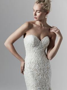 Wedding Dress Photos - Find the perfect wedding dress pictures and wedding gown photos at WeddingWire. Browse through thousands of photos of wedding dresses. Fit And Flare Wedding Dress, Wedding Dress Sizes, Designer Wedding Dresses, Bridal Dresses, Sottero And Midgley Wedding Dresses, Sottero Midgley, Bridal Closet, Indian Wedding Gowns, Wedding Dress Pictures