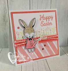 Happy Easter Card: Rose Blossom Legacies: Close To My Heart Stamp of the Month - Easter Bunny