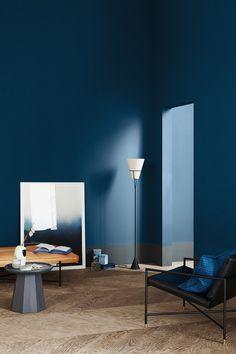 3 Color Universes 2020 by Norwegian company Jotun - Eclectic Trends Azul Pantone, Pantone 2020, Pantone Color, Blue Walls, White Walls, Color Inspiration, Interior Inspiration, Blue Photography, Interior Modern