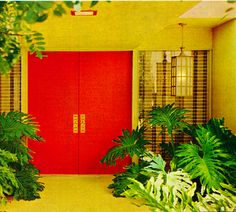 New Red Door Entrance Modern 35 Ideas Mid Century Decor, Mid Century House, Mid Century Design, Modern Entrance, House Entrance, Modern Entryway, Door Entry, Entrance Hall, Front Entry