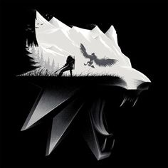 The Witcher 3 Wolf Silhouette Premium Tee                                                                                                                                                                                 Mais
