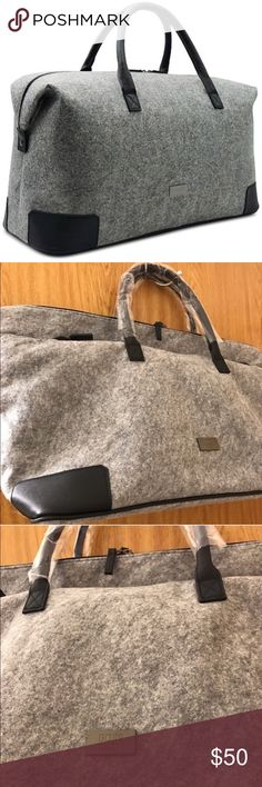 Hugo Boss travel bag purse new gray man New with tags in original bag Hugo Boss Bags Travel Bags