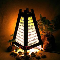 White bedside table lamp wood language TBM208