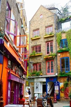 Neal's Yard, a Secret Garden in Central London, England