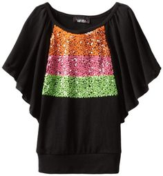 Amy Byer Girls 7-16 Butterfly Sequin Trim Top $14.40