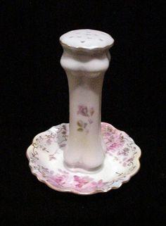 Victorian RS Hatpin Holder Vintage Stickpin Holder Porcelain Hat Pin Holder Ring Dish
