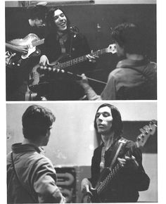 zombiesenelghetto:  The Velvet Underground:Lou Reed, Sterling Morrison and John Cale, rehearsing photos by Stephen Shore, ca 1965