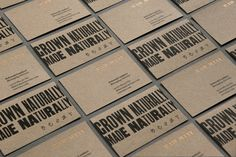 Logotype, letterpress business cards, stationery and brochures by The Counter Press for international wine fair Raw Wine
