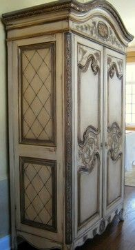Beau Hand Painted French Country Armoire Traditional....time To Work On Mine.