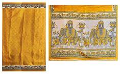 Yellow Bhagalpuri Silk Saree with Gorgeous Border and Pallu (Bhagalpuri Silk)