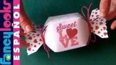 Caja en forma de caramelo hecha a mano (Descarga diseño)