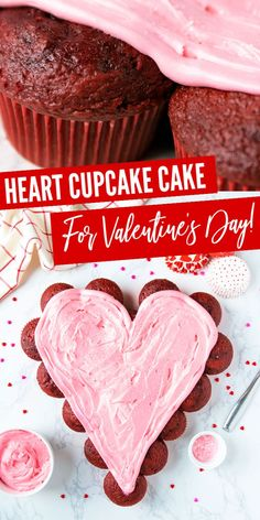 Heart Cupcake Cake! This is the PERFECT Cake Recipe for Valentine
