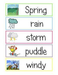 80 Spring Vocabulary Cards