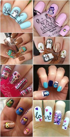 25 Cute Owl Nail Art Designs and Ideas | http://www.meetthebestyou.com/25-cute-owl-nail-art-designs-and-ideas/
