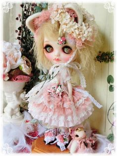 Prettam*カスタムブライス*SweetLolita+nyandoll~Antique pink~ - ヤフオク!