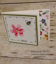 Jan Girl: Stampin' Up Tin of Cards and Garden in Bloom easy fold card