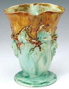 Una Deerbon, grape leaves and… - Australian Pottery; Winter Art & Design - Shapiro Auctioneers - Antiques Reporter