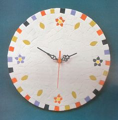 Cute mosaic clock