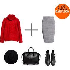 """Knitwear with pencil skirt"" by birgit-veskivali on Polyvore"
