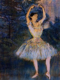 Dancer with Raised Arms - Edgar Degas 1891
