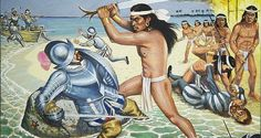 Here is Magellans death to Lapu Lapu, the story here is that when Magellan…